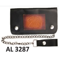 6 Inch Biker Chain Wallet with 6 pockets and Eagle Head