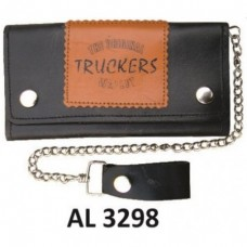 8 Inch Biker Chain Wallet with 5 pockets and Truckers Logo