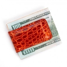 817-CR Royce  Luxury Magnetic Money Clip Wallet, Handcrafted in Genuine Crocodile