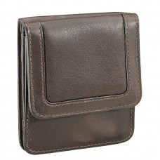 Cowhide Drum-Dyed Napa Leather Coin & Currency Wallet