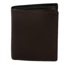 Cowhide Napa Leather Wallet with Card Slots & I.D. Window