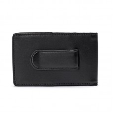 Cowhide Napa Leather Slim Wallet (Outer I.D. Window)
