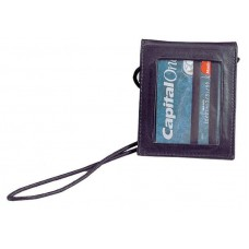 Cowhide Napa Leather Picture ID Security Wallet