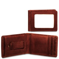 Voyager Collection Small Bi-Fold Wallet W/Money Clip