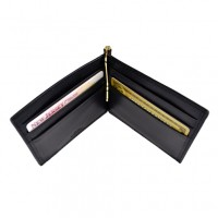Men's Cash Clip Wallet With Outside Pocket (RFID Blocking)