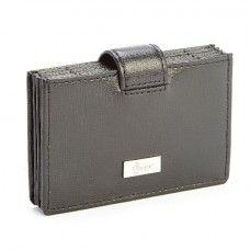 Credit Card Organizer Wallet In Saffiano Leather (RFID Blocking)