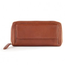 RFID Zip Around Clutch Wallet